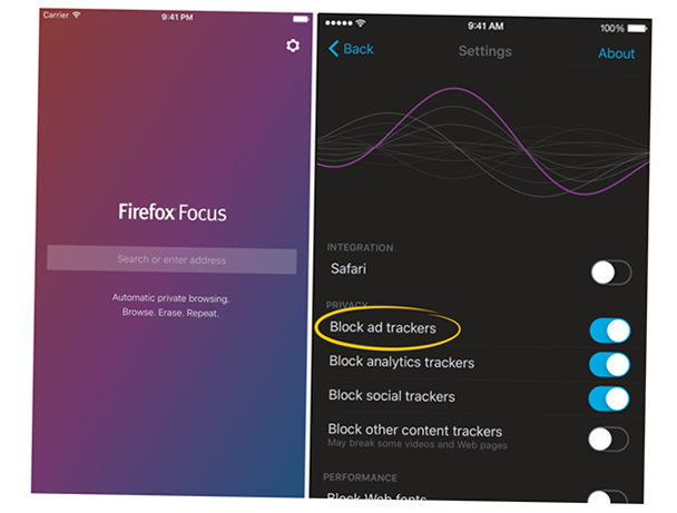 firefox focus privacy